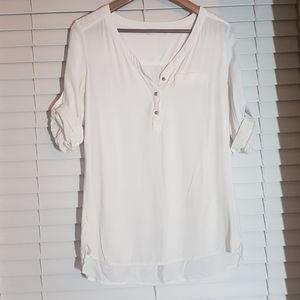 EUC size M Reitman's soft Hi-Lo tunic top